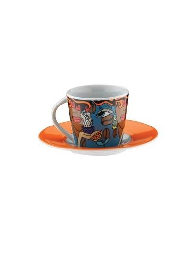 Kütahya Porselen Kütahya Porselen Toledo 10910 Desen Renkli Kahve Takımı Renkli
